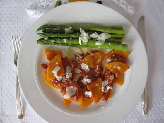 Butternut Squash with Tomato Sauce and Yogurt