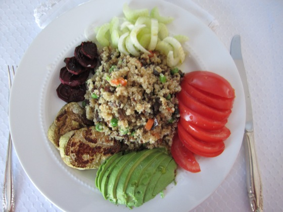 BARLEY & QUINOA SALAD WITH ROASTED AND FRESH VEGETABLES