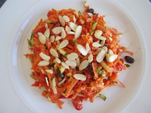 CARROTS, RED PEPPERS AND ZUCCHINI SALAD